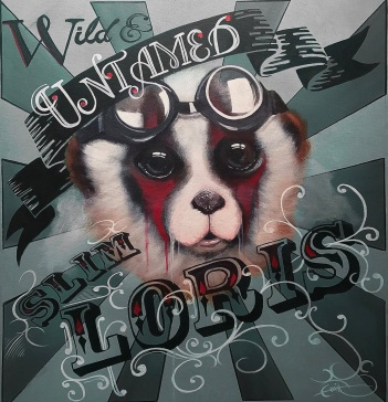 Image shows album cover of Slim Loris's forthcoming EP Wild & Untamed featuring new release 'Hideaway'